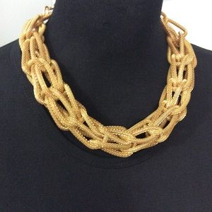 Chunky Mesh Gold Necklace